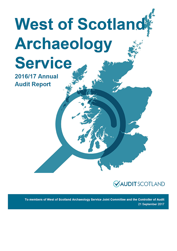 Report cover: West of Scotland Archaeology Service annual audit report 2016/17