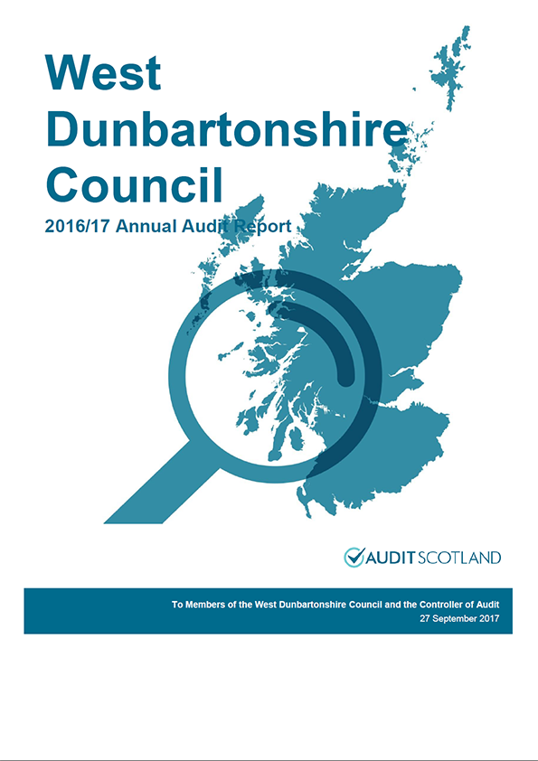 Report cover: West Dunbartonshire Council annual audit report 2016/17