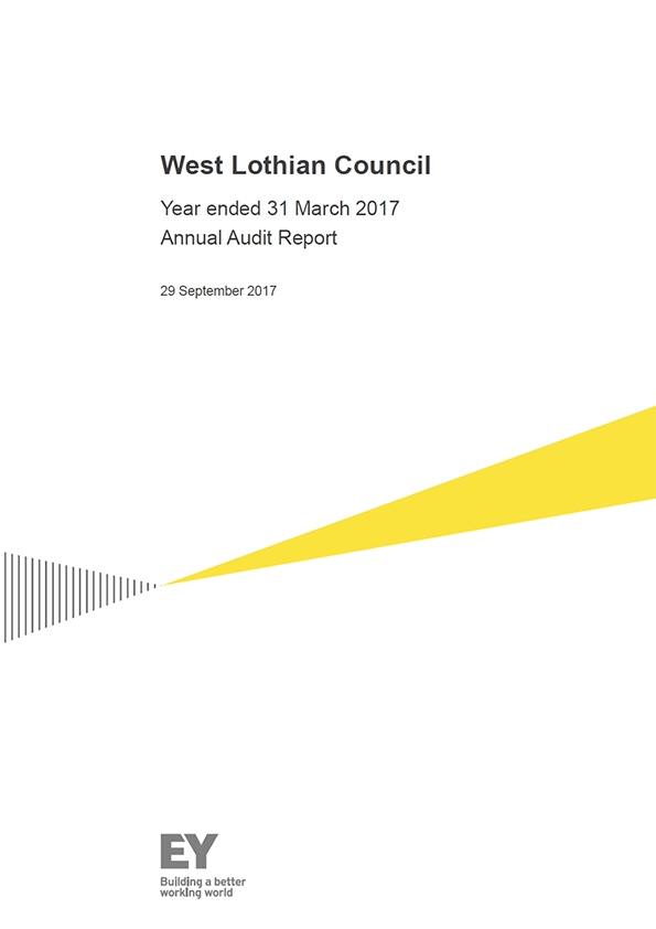 Report cover: West Lothian Council annual audit report 2016/17