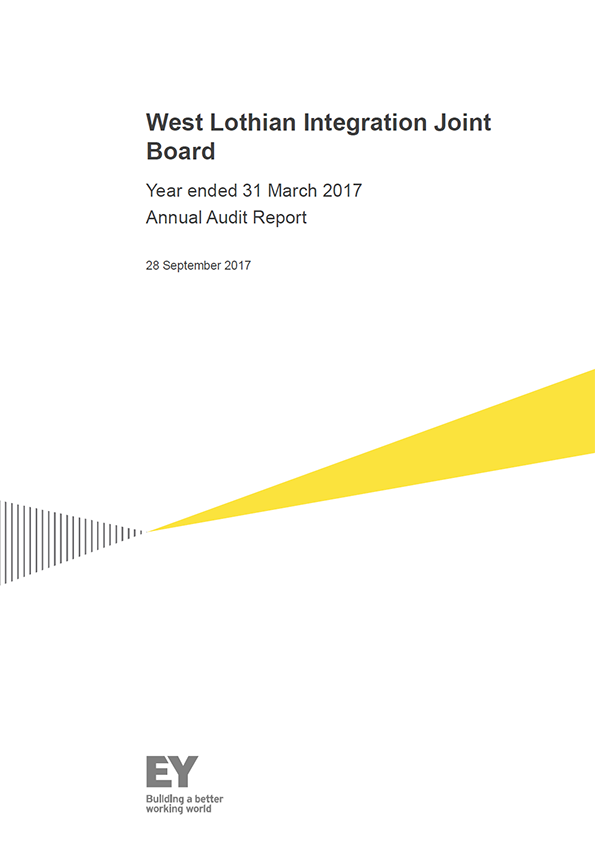 Report cover: West Lothian Integration Joint Board annual audit report 2016/17