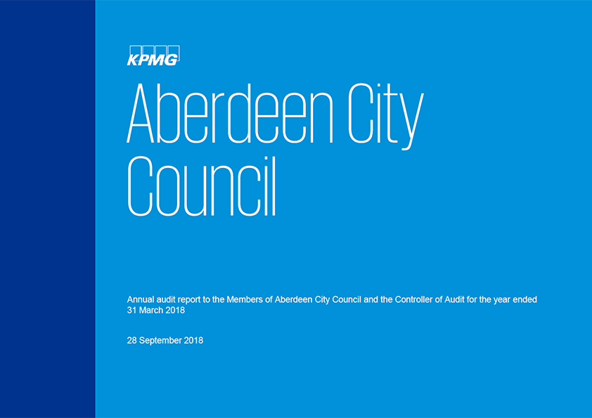 Report cover: Aberdeen City Council annual audit report 2017/18