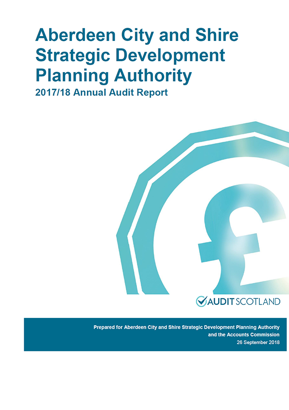Report cover: Aberdeen City and Shire Strategic Development Planning Authority annual audit report 2017/18