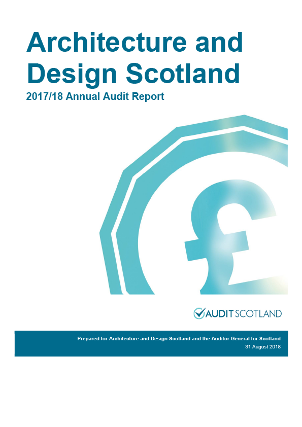 Report cover: Architecture and Design Scotland annual audit report 2017/18