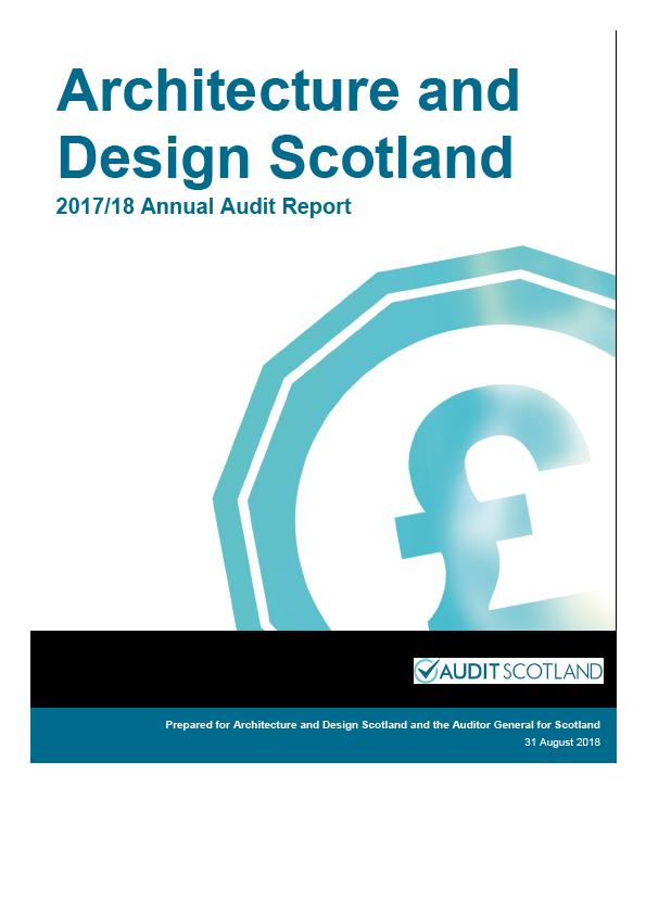 Report cover: Architecture and Design Scotland annual audit report 2017/18