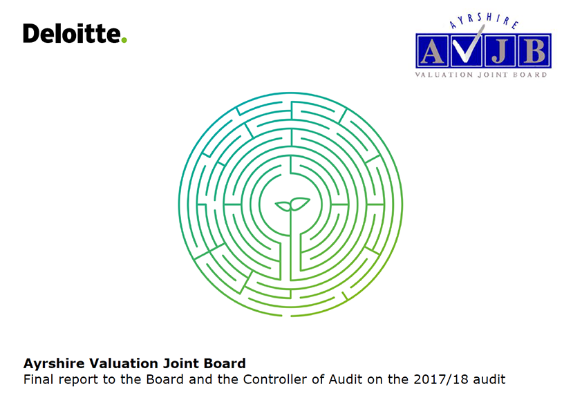 Report cover: Ayrshire Valuation Joint Board annual audit report 2017/18