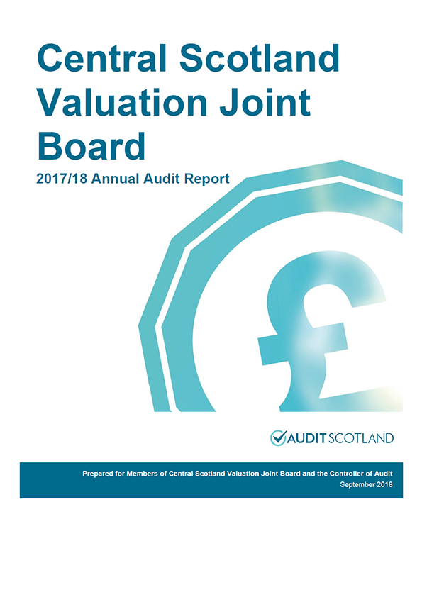 Report cover: Central Scotland Valuation Joint Board annual audit report 2017/18
