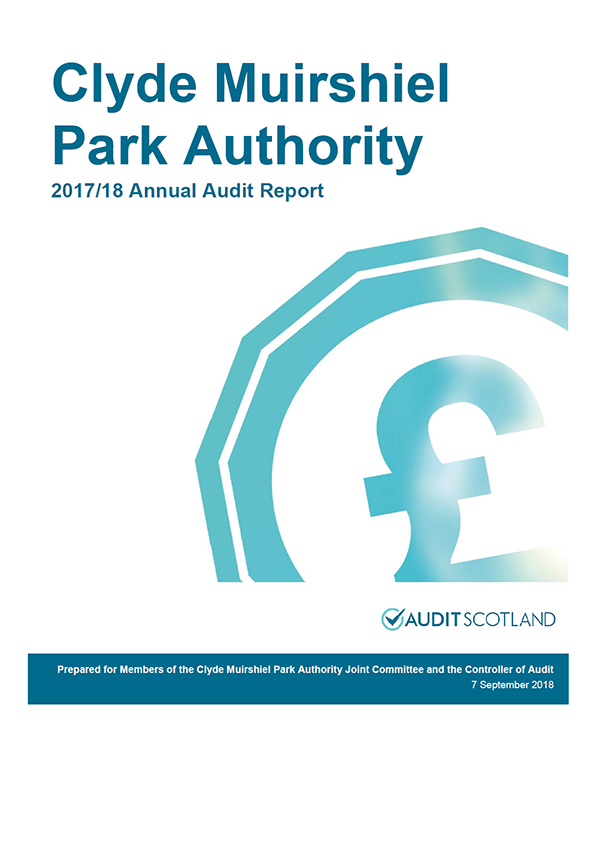 Report cover: Clyde Muirshiel Park Authority annual audit report 2017/18