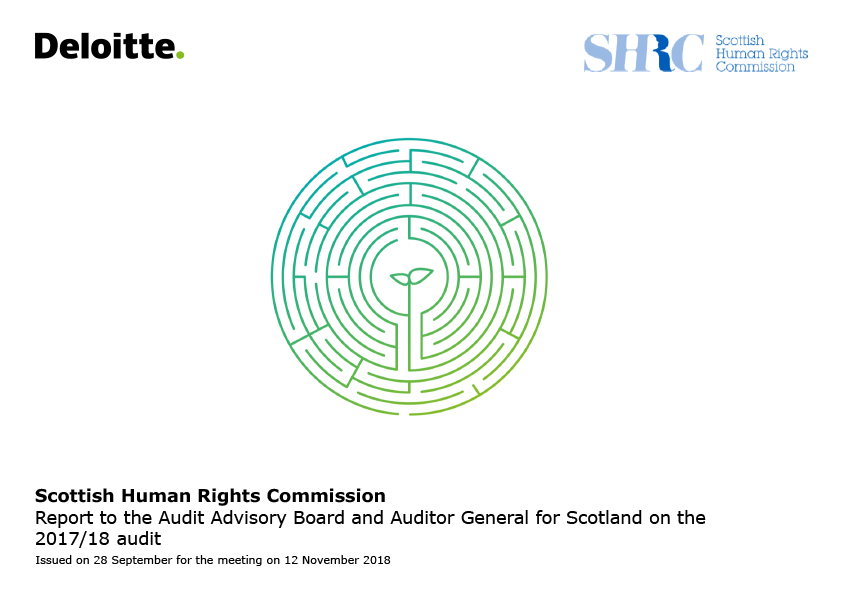 Report cover: Scottish Human Rights Commission annual audit report 2017/18