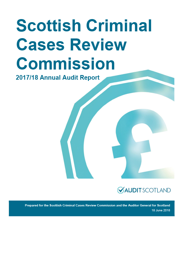 Report cover: Scottish Criminal Cases Review Commission annual audit report 2017/18