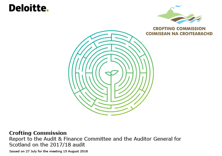 Report cover: Crofting Commission annual audit report 2017/18