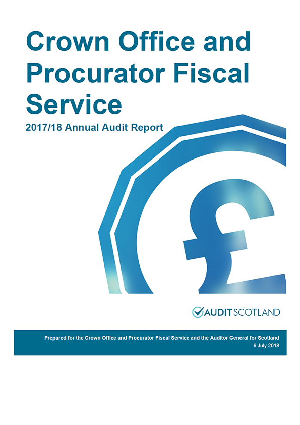 Report cover: Crown Office and Procurator Fiscal Service annual audit report 2017/18