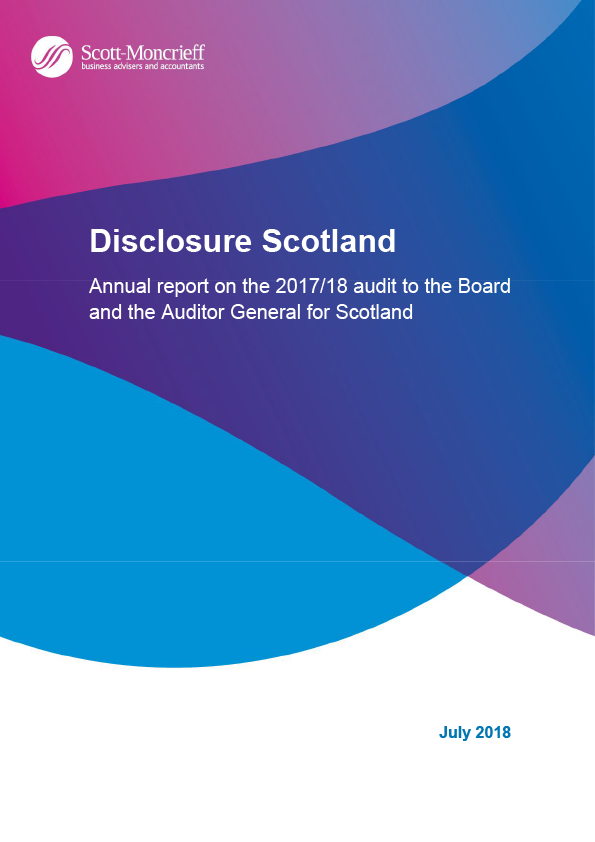 Report cover: Disclosure Scotland annual audit report 2017/18