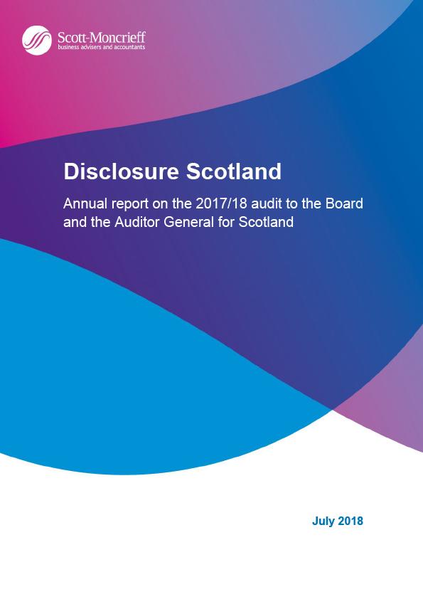 Report cover: Disclosure Scotland annual audit report 2017/18