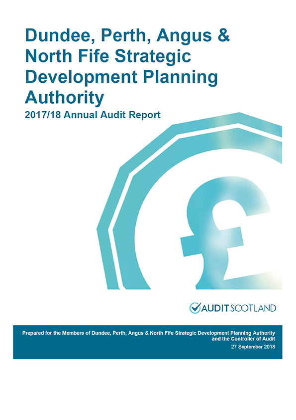 Report cover: Dundee, Perth, Angus and North Fife Strategic Development Planning Authority annual audit report 2017/18