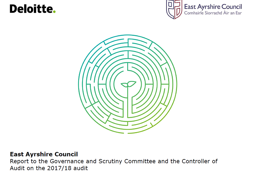Report cover: East Ayrshire Council  annual audit report 2017/18