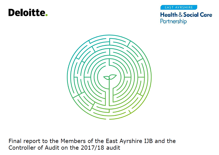 Report cover: East Ayrshire Integration Joint Board annual audit report 2017/18