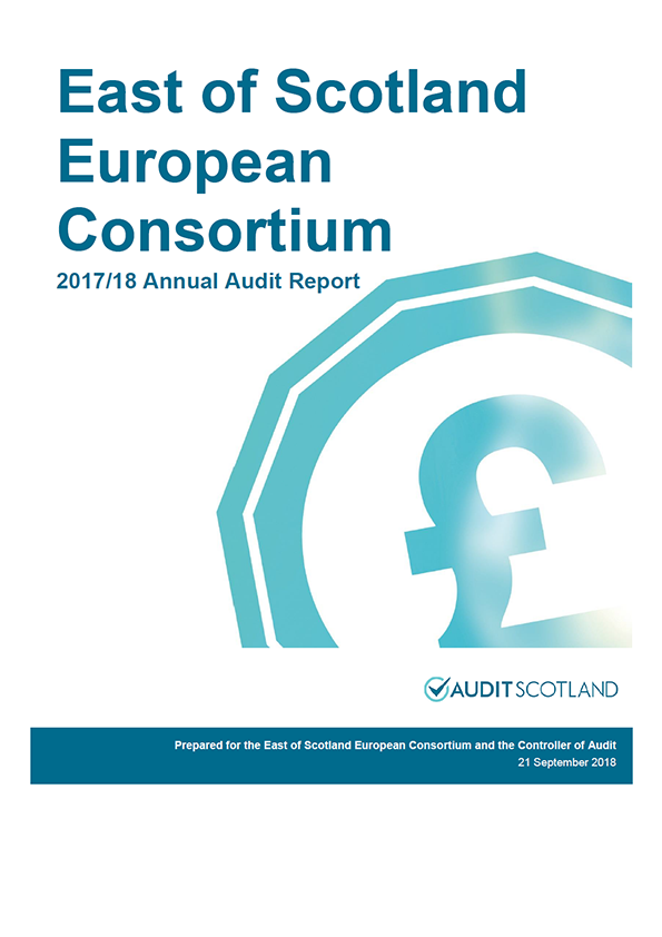 Report cover: East of Scotland European Consortium annual audit report 2017/18