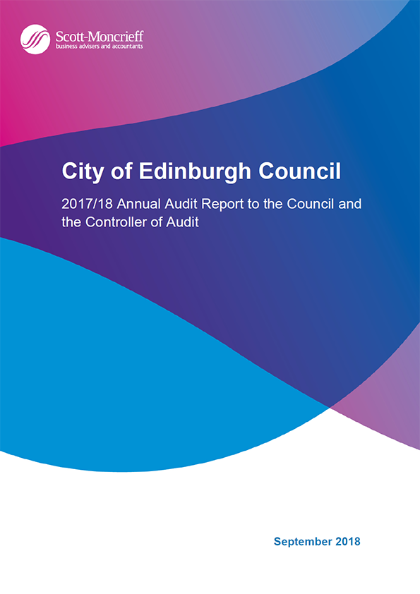 Report cover: City of Edinburgh Council annual audit report 2017/18