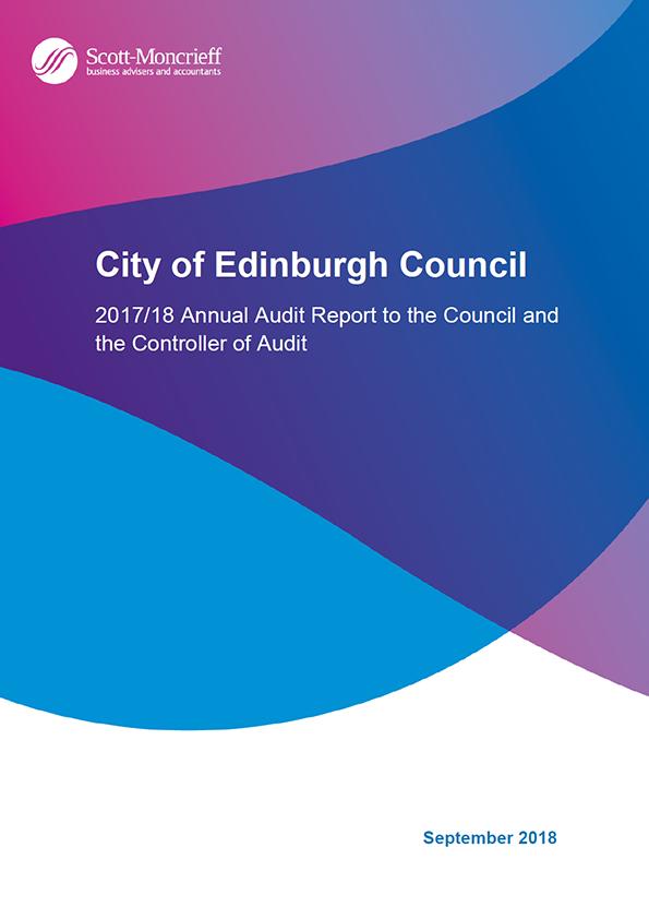 Report cover: City of Edinburgh Council annual audit report 2017/18