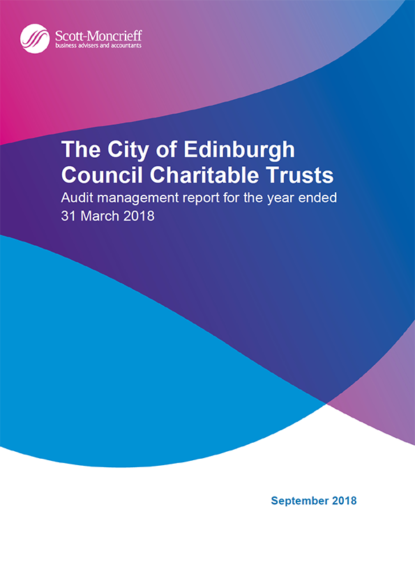Report cover: The City of Edinburgh Council Charitable Trusts annual audit report 2017/18