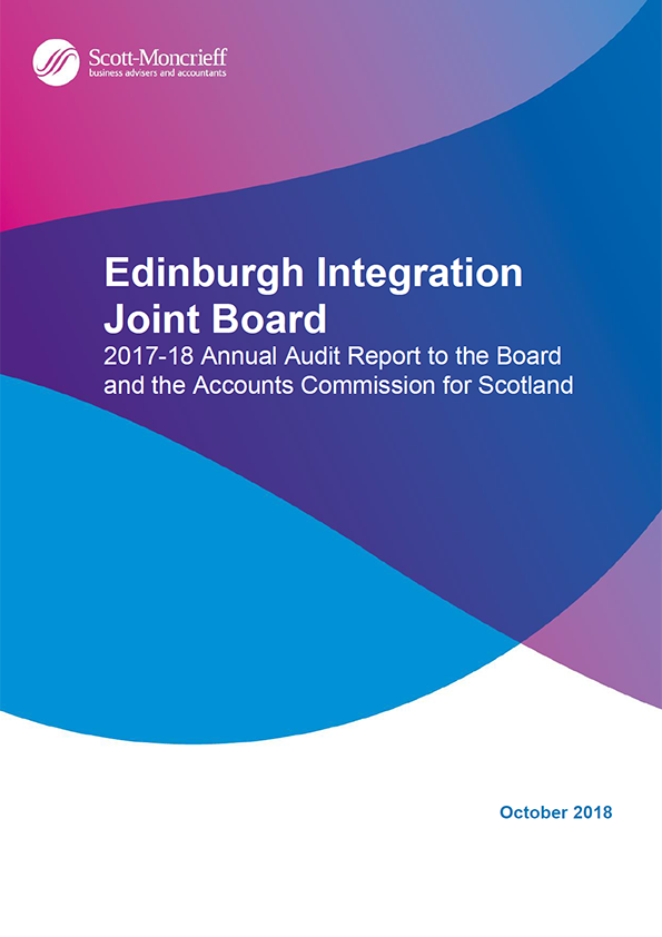 Report cover: Edinburgh Integration Joint Board annual audit report 2017/18