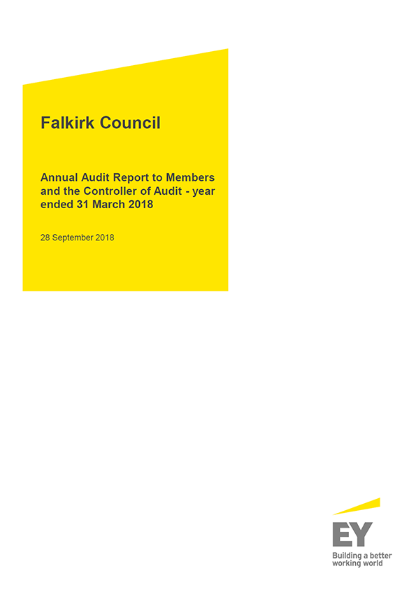 Report cover: Falkirk Council annual audit report 2017/18