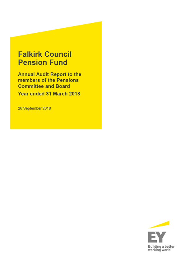 Report cover: Falkirk Council Pension Fund annual audit report 2017/18