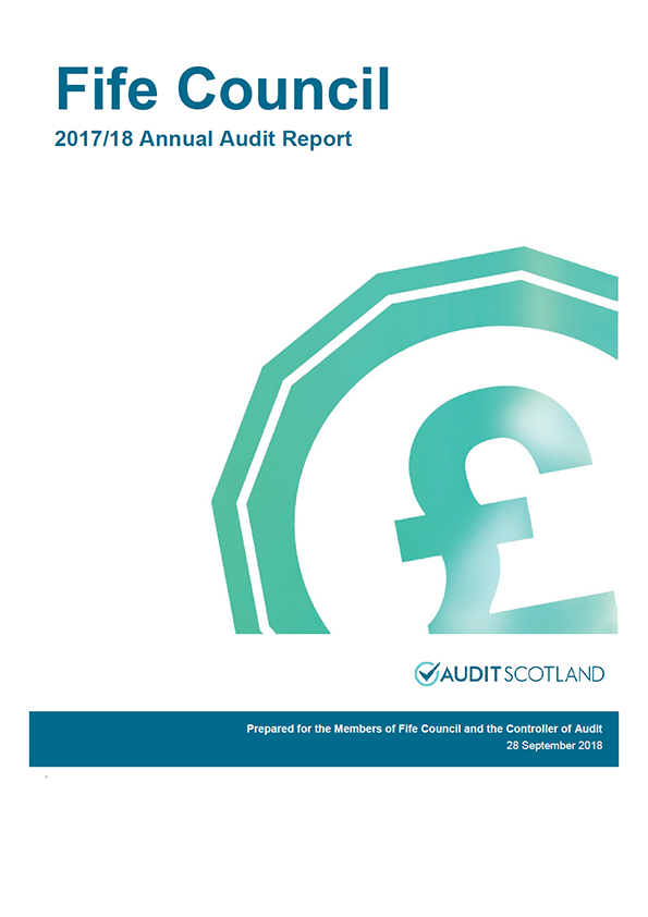 Report cover: Fife Council annual audit report 2017/18