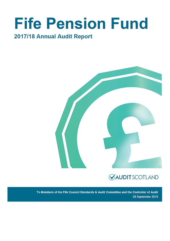 Report cover: Fife Pension Fund annual audit report 2017/18