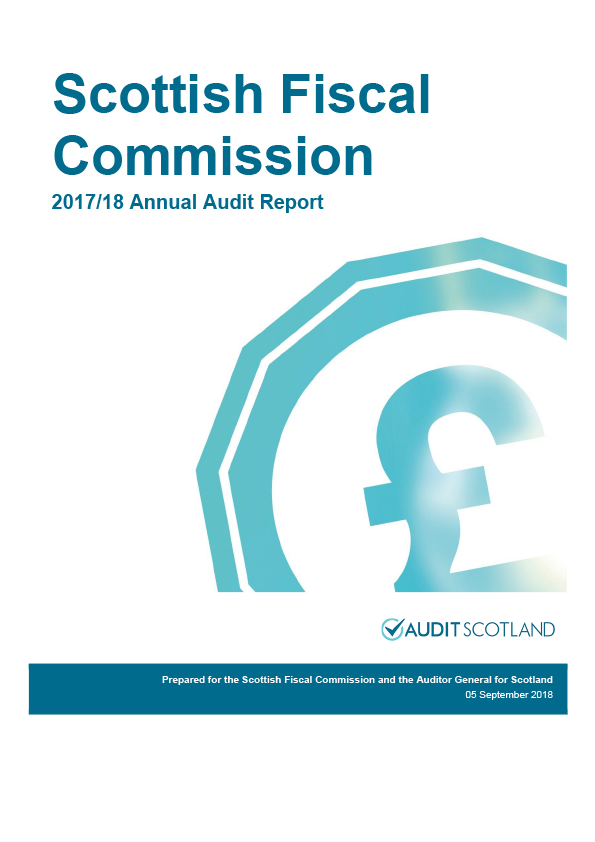 Report cover: Scottish Fiscal Commission annual audit report 2017/18