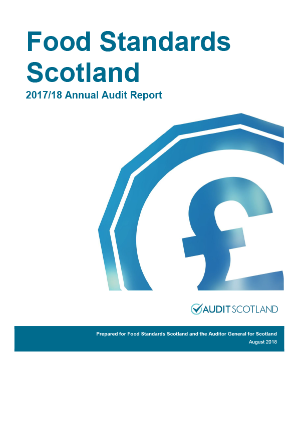 Report cover: Food Standards Scotland annual audit report 2017/18