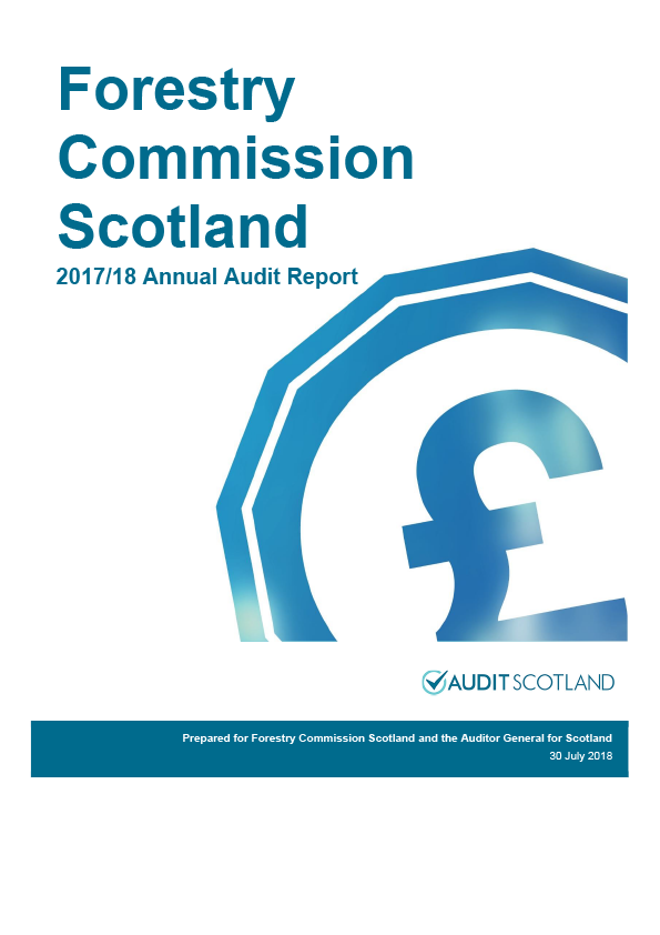 Report cover: Forestry Commission Scotland annual audit report 2017/18