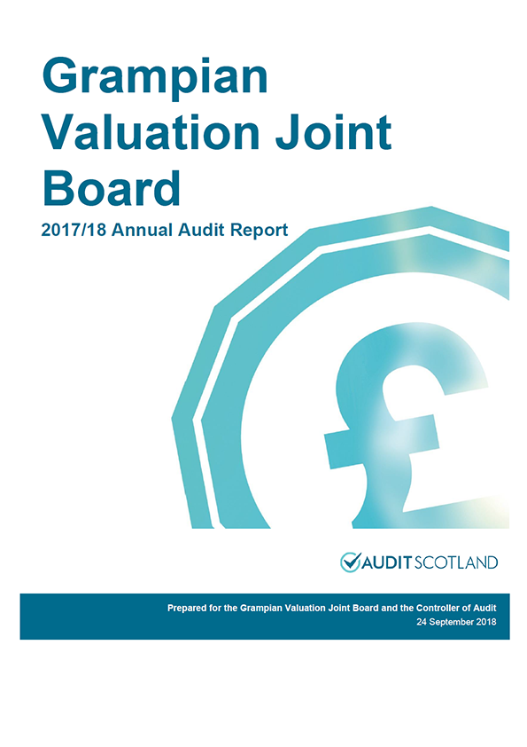 Report cover: Grampian Valuation Joint Board annual audit report 2017/18