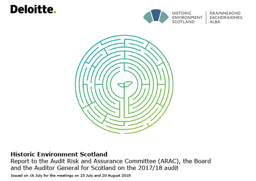 Report cover: Historic Environment Scotland annual audit report 2017/18