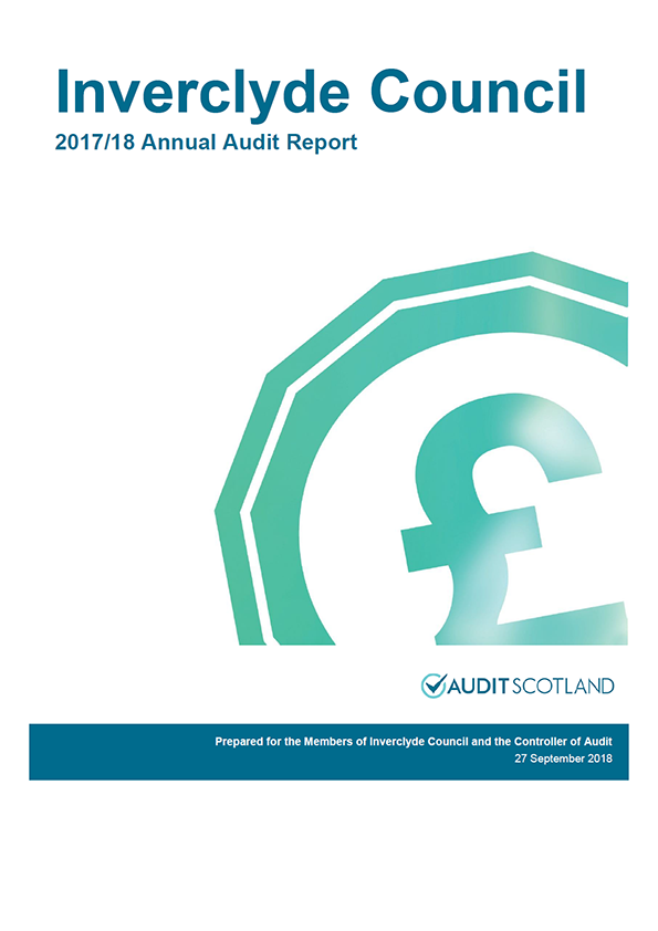 Report cover: Inverclyde Council annual audit report 2017/18