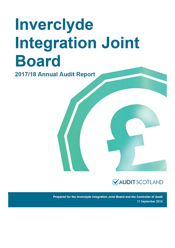 Report cover: Inverclyde Integration Joint Board annual audit report 2017/18