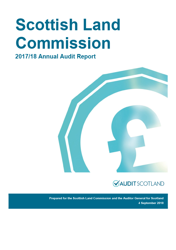 Report cover: Scottish Land Commission annual audit report 2017/18