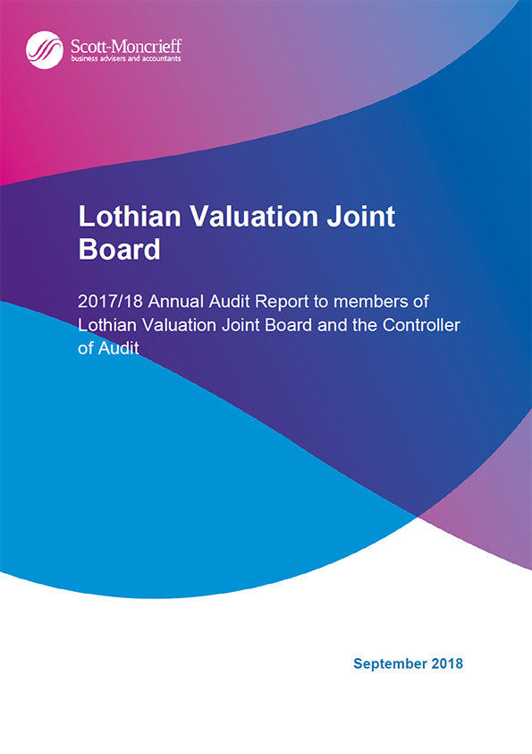 Report cover: Lothian Valuation Joint Board annual audit report 2017/18