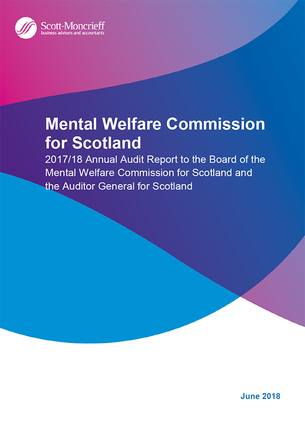 Report cover: Mental Welfare Commission for Scotland annual audit report 2017/18
