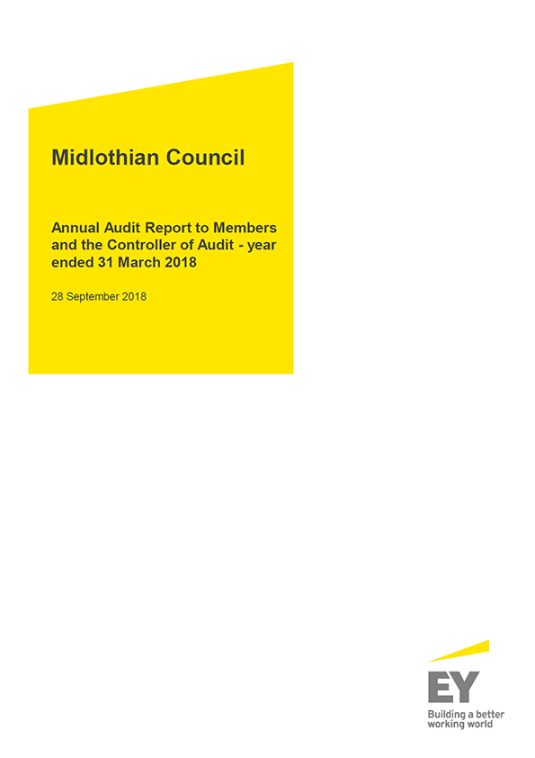 Report cover: Midlothian Council annual audit report 2017/18