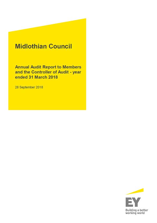 Report cover: Midlothian Council annual audit report 2017/18