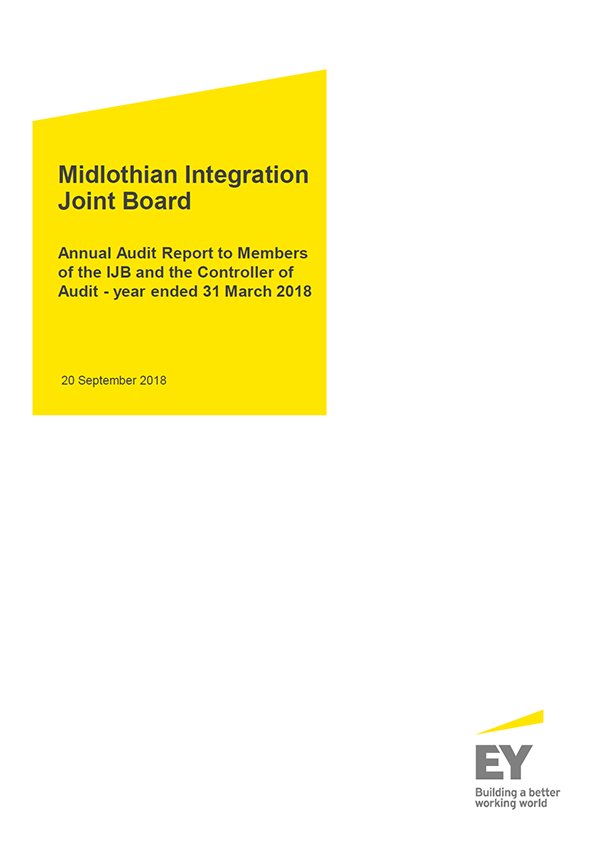 Report cover: Midlothian Integration Joint Board annual audit report 2017/18