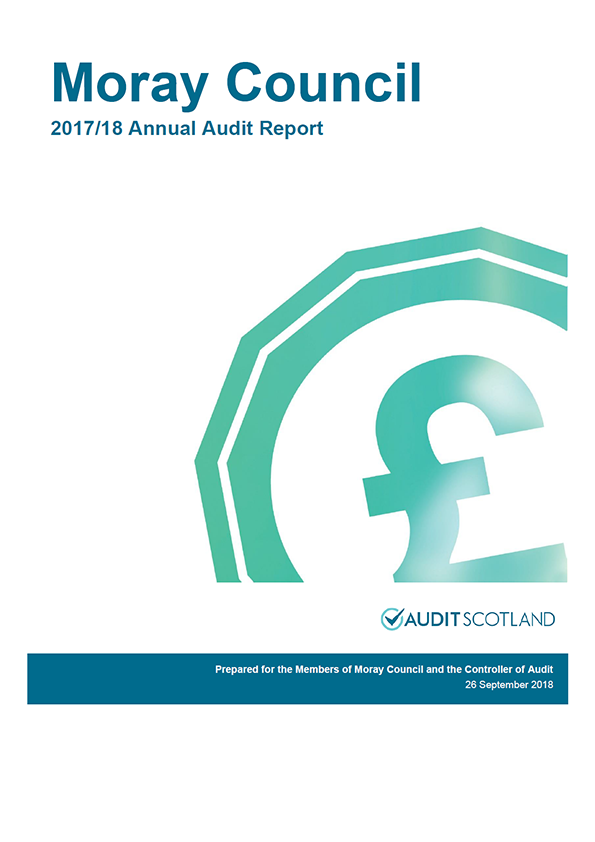 Report cover: Moray Council annual audit report 2017/18