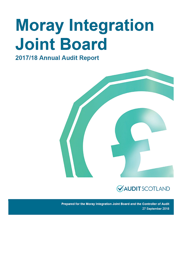 Report cover: Moray Integration Joint Board annual audit report 2017/18