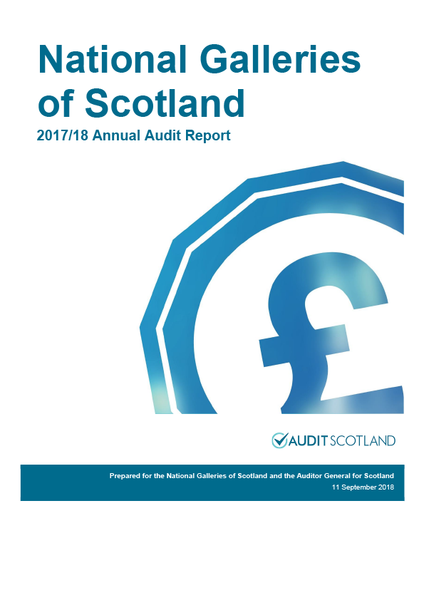 Report cover: National Galleries of Scotland annual audit report 2017/18