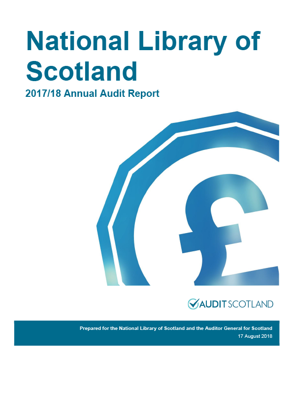Report cover: National Library of Scotland annual audit report 2017/18