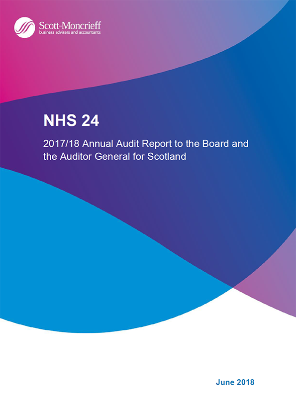 Report cover: NHS 24 annual audit report 2017/18