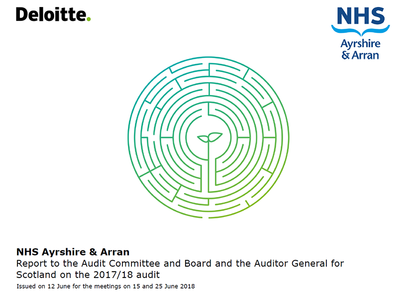 Report cover: NHS Ayrshire and Arran annual audit report 2017/18