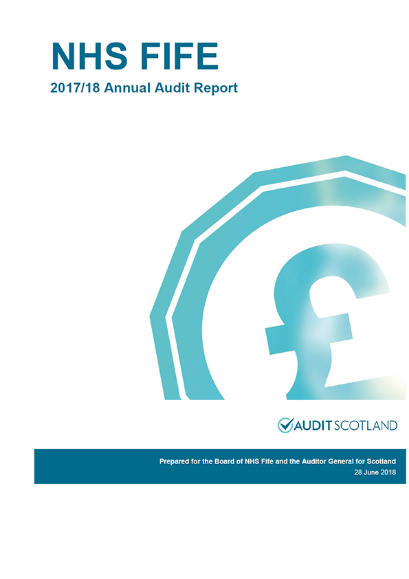 Report cover: NHS Fife annual audit report 2017/18