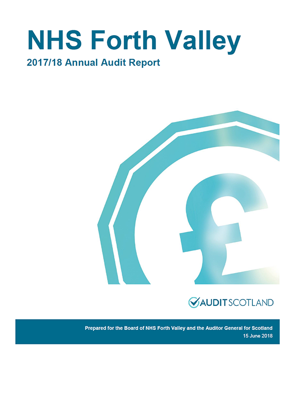 Report cover: NHS Forth Valley annual audit report 2017/18